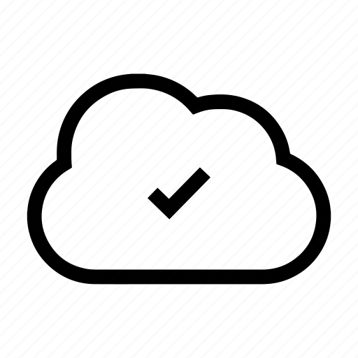 backup, cloud, upload complete, upload successful icon