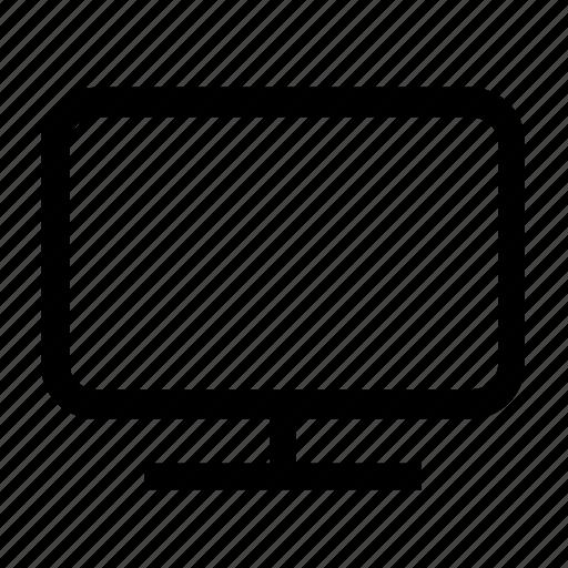 computer, desktop, display, monitor, personal computer icon