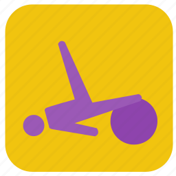 exercise, exercise ball, pilates, stretch icon