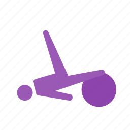 ball, exercise, fitness, movement, pilates icon