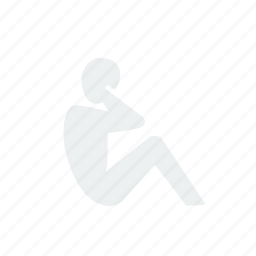 exercise, fitness, sit, up icon