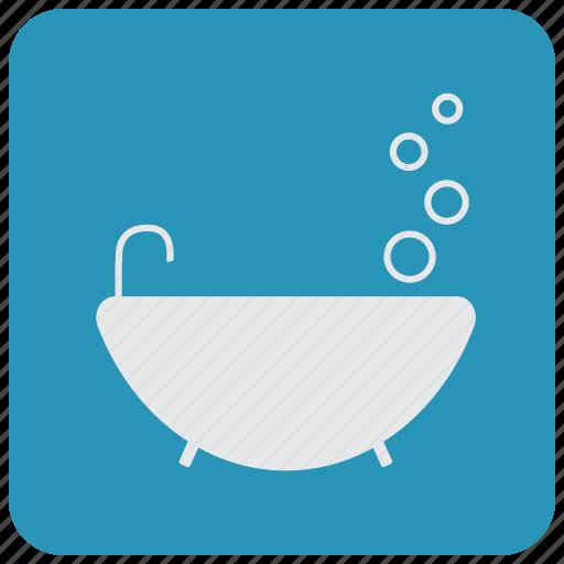 bath, bathroom, bubbles, tap, toilet icon