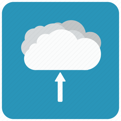 cloud, digital cloud, up, upload, upload to the cloud icon