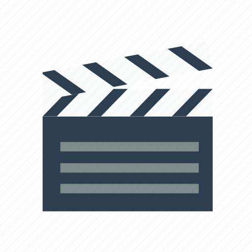 clapperboard, film, go, on, slate board icon