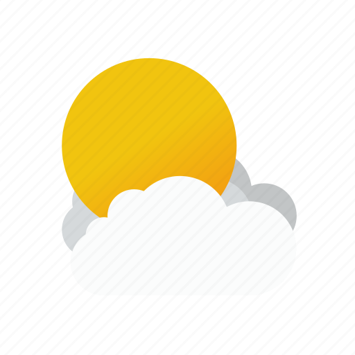 clouds, outdoor, outside, sun, weather icon
