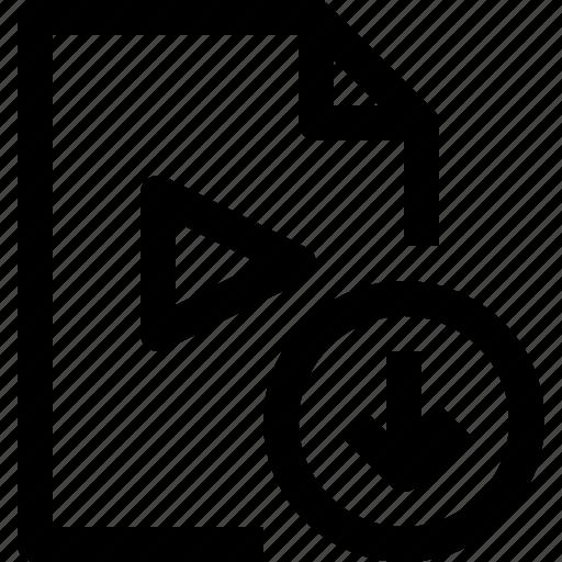document, download, file, media, multimedia, musicfile icon