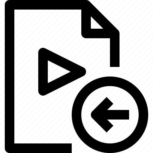 document, file, left, media, multimedia, musicfile icon