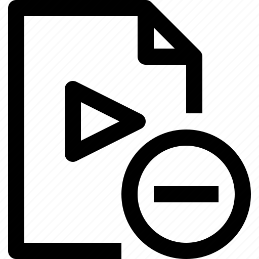 document, file, media, multimedia, musicfile, remove icon
