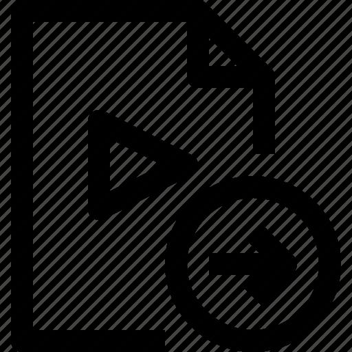 document, file, media, multimedia, musicfile, right icon