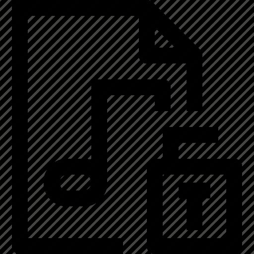 document, file, media, multimedia, musicfile, unlock icon