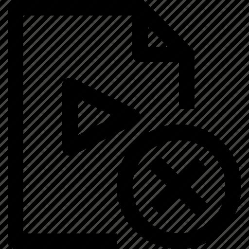 document, file, media, multimedia, musicfile, x icon