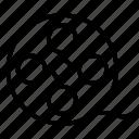 camera reel, film negatives, film reel, image reel, movie reel icon