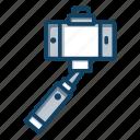 mobile camera, monopod selfie stick, photography, photoshoot, selfie capturing, selfie stick icon
