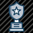 achievement, award, shield trophy, sports trophy, trophy, winner cup icon