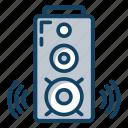 audio player, music player, sound speaker, sound system, speaker, stereo system icon
