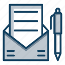 communication, correspondence, electronic mail, email, mail icon