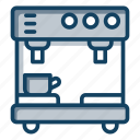 coffee machine, coffee maker, electronic appliance, home appliance, kitchen utensil icon