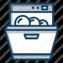 dish washing machine, dishwasher, home appliance, kitchen appliance, kitchenware icon