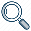 magnifier, magnifying glass, search, searching tool, zoom glass icon