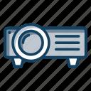 cinema equipment, multimedia presentation, projector, slide projector, stereopticon icon