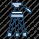 camera holder, camera rack, camera stand, professional photography, tripod icon
