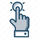 finger click, finger tap, flick gesture, hand gesture, media play, tap icon