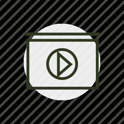 clip, tv, video, video clip, videotape icon