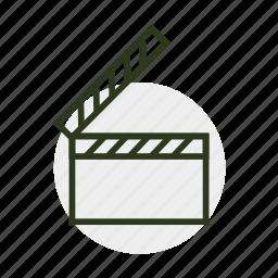 cinema, cinematography, clip, film, movie, screen, video icon