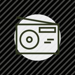 fm, news, radio, streaming, streaming audio, wireless icon