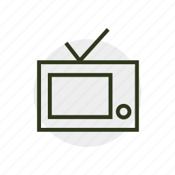 box, television, televisor, telly, tv, video icon