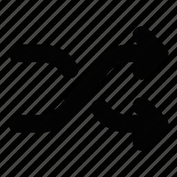 arrows, random, shuffle icon