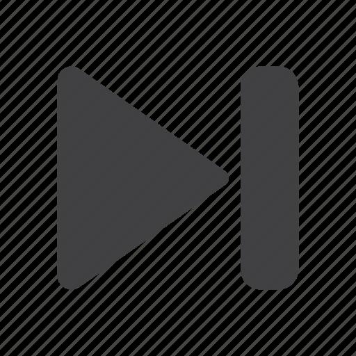 arrow, forward, music, next, play, right, skip icon