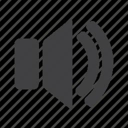 audio, music, player, sound, speaker, up, volume icon