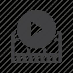 camera, cinema, film, matinee, movie, play, video icon