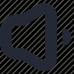 audio, down, music, player, sound, speaker, volume icon