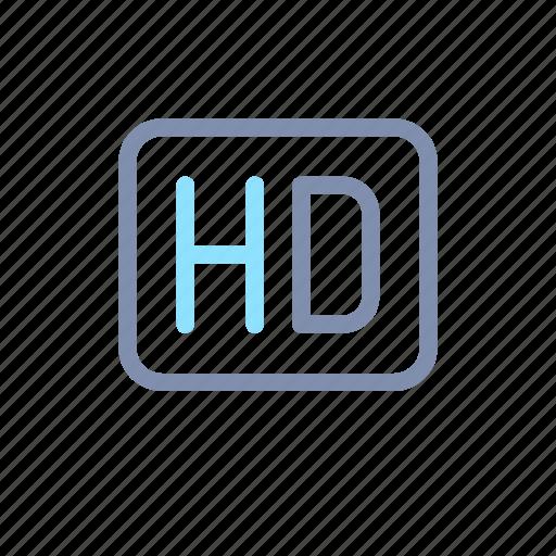 definition, hd, high, media, multimedia, player, quality icon