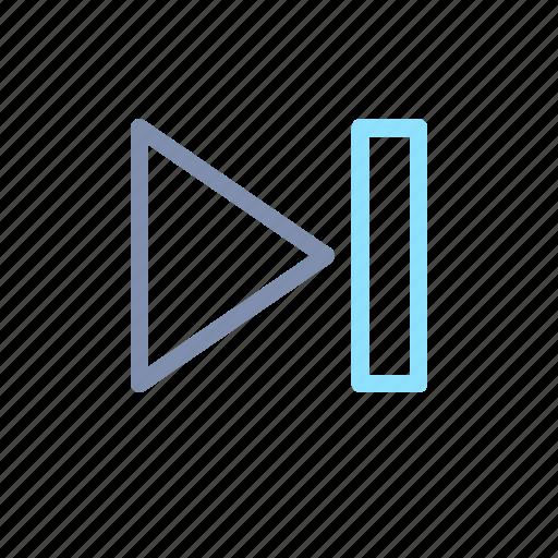 audio, media, multimedia, next, player, video icon