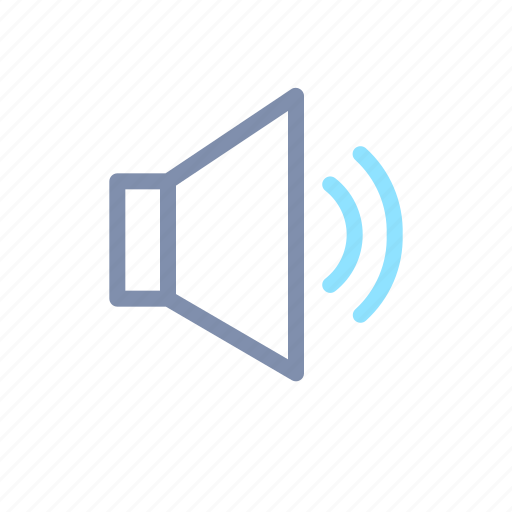 audio, media, multimedia, player, sound, volume icon