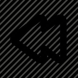 audio, backward, last track, rewind, song icon