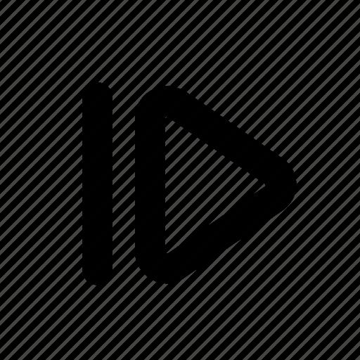 forward, next frame, slow, slowmotion icon
