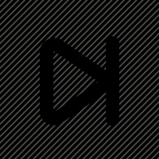 forward, frame, next, skip, skip forward icon