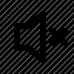 mute, no sound, quiet, silence, sound icon
