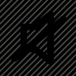 mute, no volume, quiet, silence, volume icon