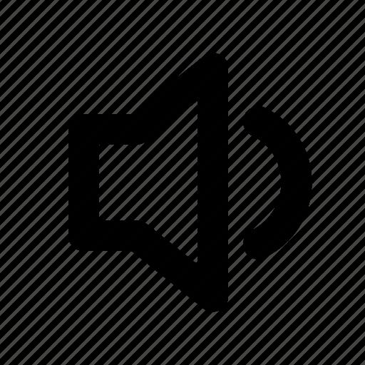lower, music, sound, speaker, volume icon
