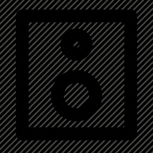 audio, music, sound, speaker, woofers icon