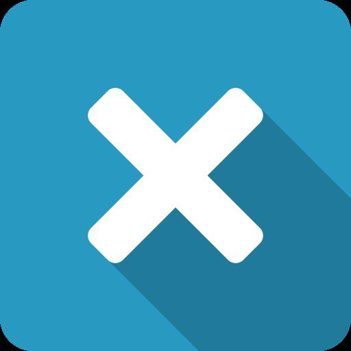 blue, close, cross, exit, shadow, x icon