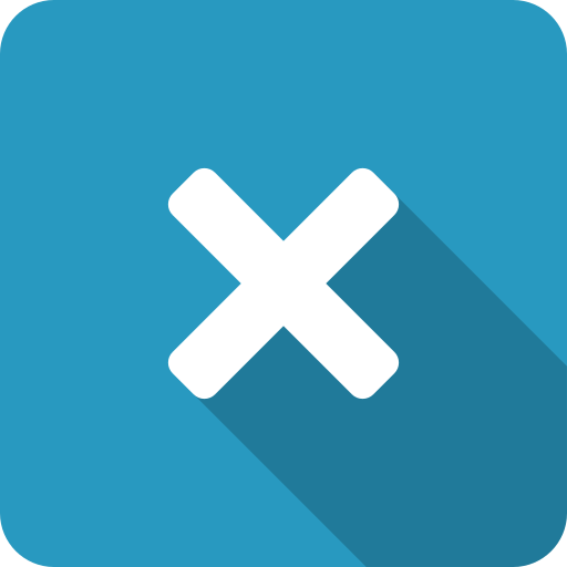 close, cross, exit, multiply, x icon