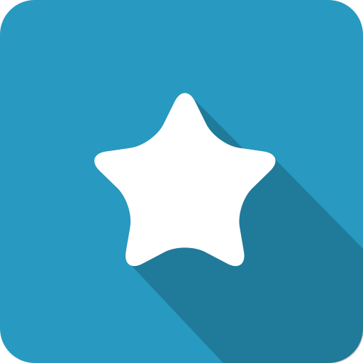 achieve, blue, favourite, like, rate, shadow, star icon