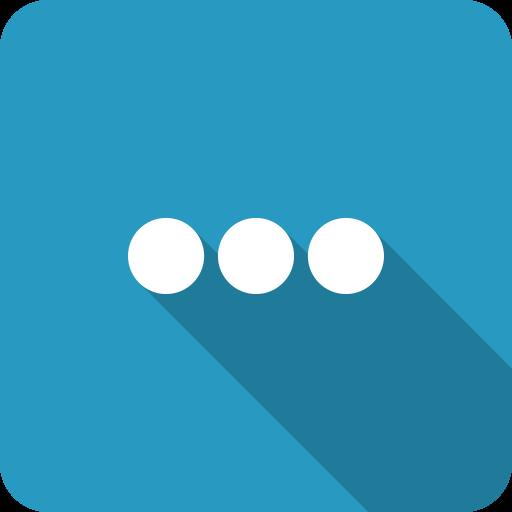blue, details, more, settings, shadow icon