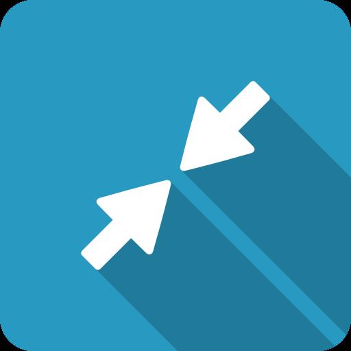 blue, minimise, minimize, retract, shadow, shrink, small icon